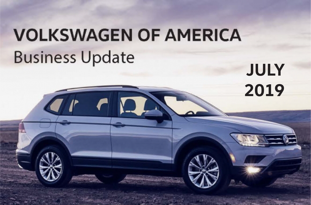Volkswagen Of America >> Volkswagen Of America Reports June 2019 Sales Results
