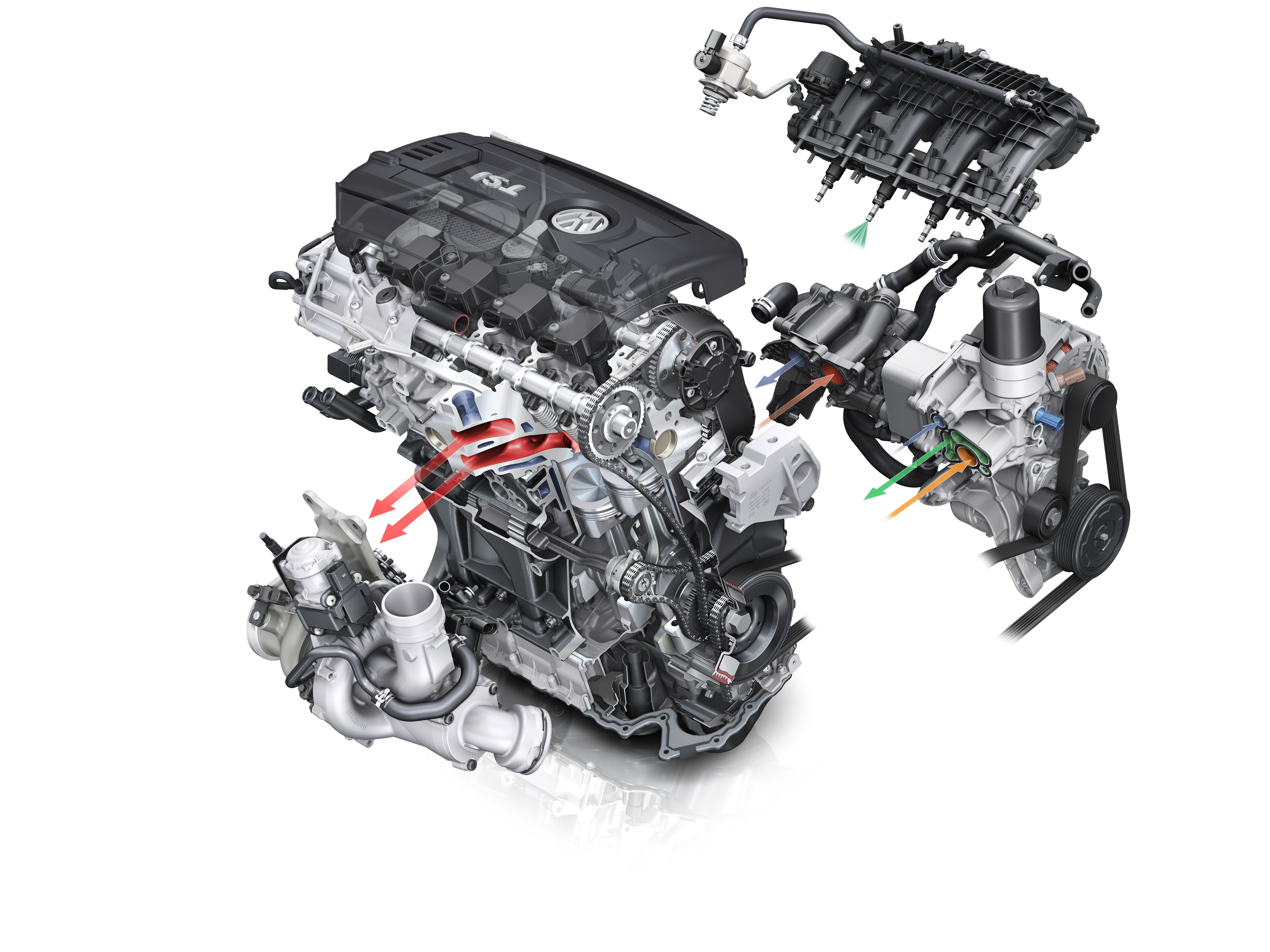 Vw Jetta 2 0 Engine Diagram Volkswagen S Latest Turbocharged Tsi Debuts In The 20 1999