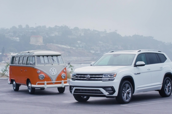 1967 Type 2 21-Window Bus and 2019 Atlas