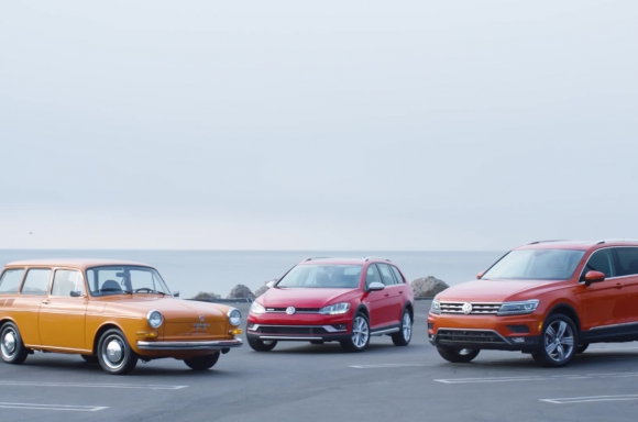 1973 Squareback, 2019 Golf Alltrack, and 2019 Tiguan B-Roll